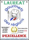 Gourmet des régions - certificat d'excellence